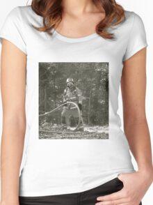 fireman Women's Fitted Scoop T-Shirt