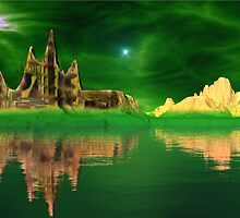 Emerald Castle - Emerald Skies by AlienVisitor