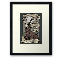 May your demons  Framed Print