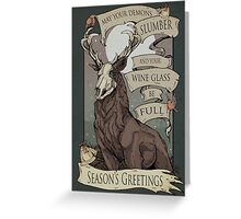 May your demons  Greeting Card