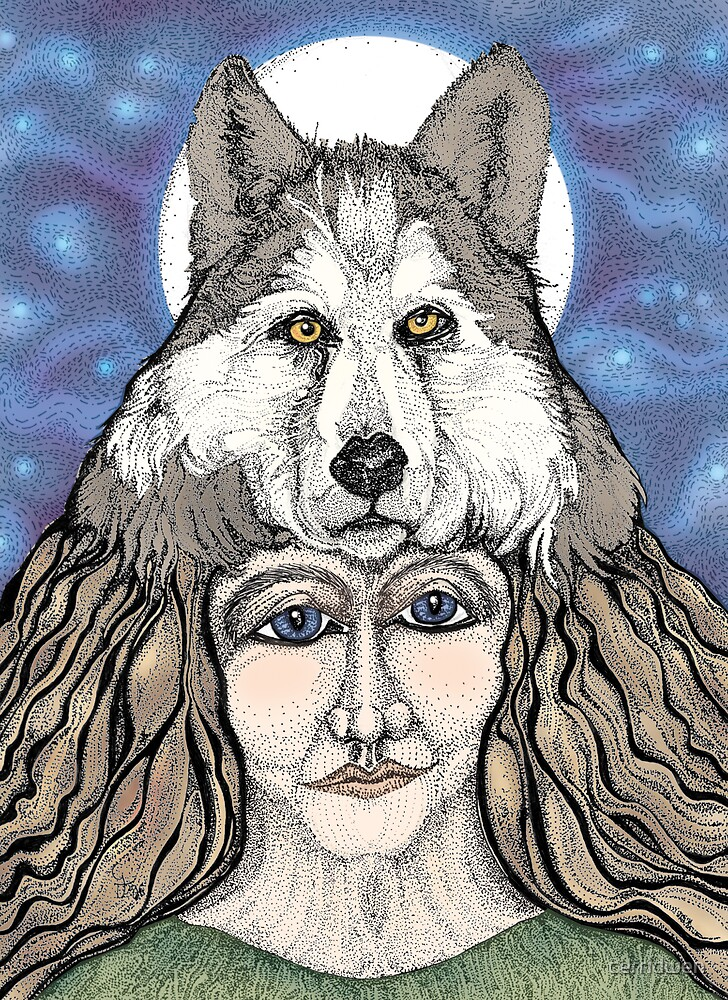 Wolf Woman by cerridwen