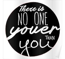 Dr Seuss - There Is No One Youer Than You Poster