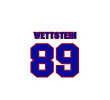 National football player Max Wettstein jersey 89 Photographic Print