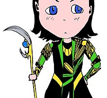 Chibi Loki Laufeyson (coloured version) by Saphiria333