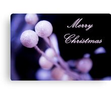 Merry Christmas Postcard Christmas Canvas Print