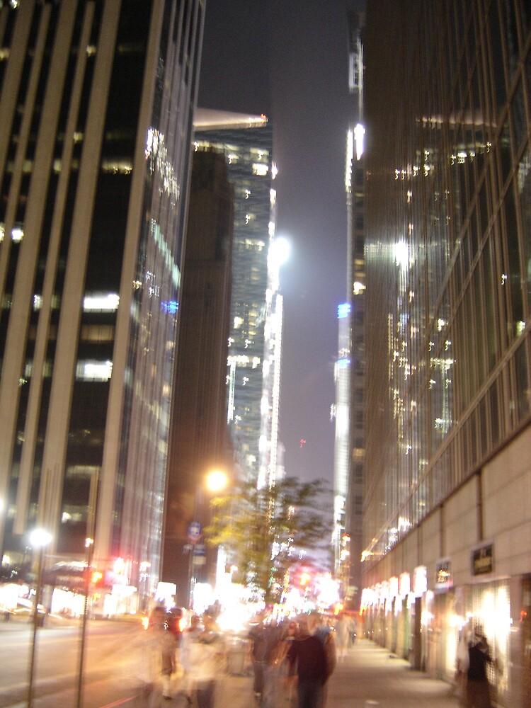 NY at night by Lisa Trainer