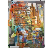 Collage Construct No. 2 with Poem iPad Case/Skin