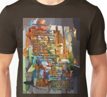 Collage Construct No. 2 with Poem Unisex T-Shirt