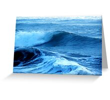 Blue Waves of Glory Greeting Card