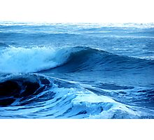 Blue Waves of Glory Photographic Print