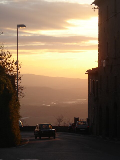 Sunset, Volterra by Lisa Trainer