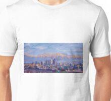 Los Angeles Skyline with Sierra Nevada at Dusk Unisex T-Shirt