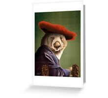 Wombat with a Red Hat Greeting Card