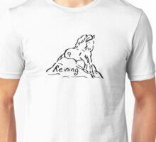 Reining Slding Stop Black Unisex T-Shirt