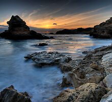 Island Bay Sunset by Robert Mullner