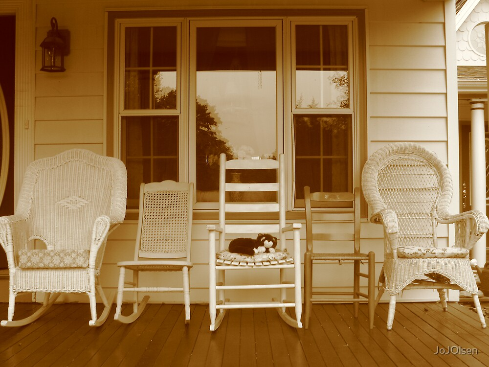 Chairs on a Porch by JoJOlsen