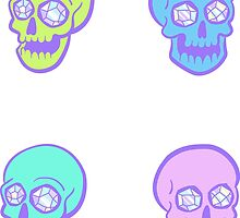 Crystal Skull Sticker Set by HeyRockee