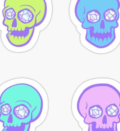 Crystal Skull Sticker Set Sticker