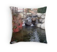 Swimming Solo Throw Pillow