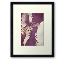 The Lady of Ravens surreal artwork Framed Print