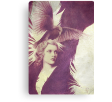 The Lady of Ravens surreal artwork Canvas Print