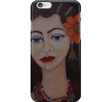 Gypsy with green eyes iPhone Case/Skin