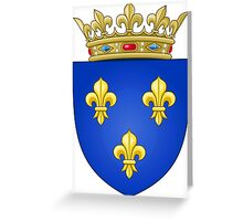 Royal French Coat of Arms, 1376–1515 Greeting Card