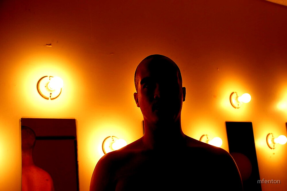 Man and Lightbulbs 1 by mfenton