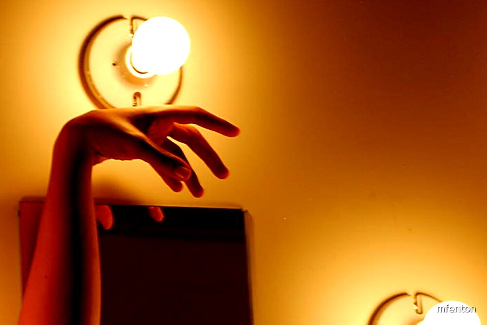 Hand by Bulb by mfenton