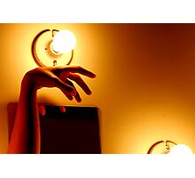 Hand by Bulb Photographic Print