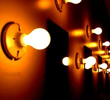Row of Light Bulbs by mfenton