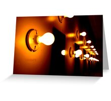Row of Light Bulbs Greeting Card