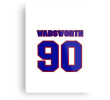 National football player Andre Wadsworth jersey 90 Metal Print