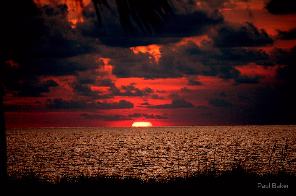 South Pacific Sky Fire by Paul Baker