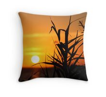 Silhouetted Sunset Throw Pillow