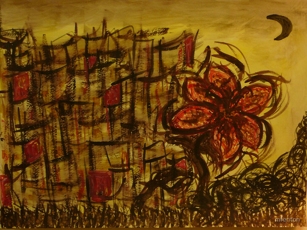 City Bloom in Moonlight by mfenton