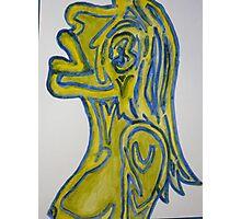 Yellow Sigh Photographic Print