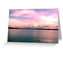 Pink Paradise Skyline Greeting Card