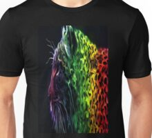 Abstract Neon Rainbow Cheetah Cat Wildlife Unisex T-Shirt
