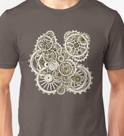 Steampunk Gears on your Gear No.2 Vintage Style Steampunk T-Shirts Unisex T-Shirt