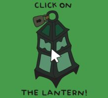 "Thresh - ""CLICK ON THE LANTERN!"" - BLACK TEXT/LIGHT SHIRTS by baconpiece"