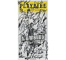 Newsies Playbill - 2012-2013 Casts Photographic Print