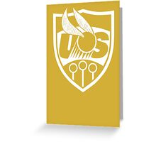 US Quidditch Gold Greeting Card
