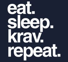 Eat Sleep Krav Repeat Baby Tee