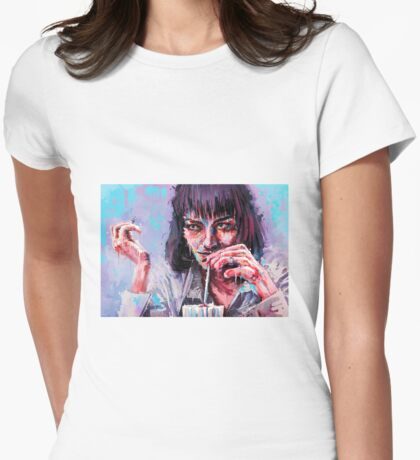 Mia Wallace Pulp Fiction Womens Fitted T-Shirt