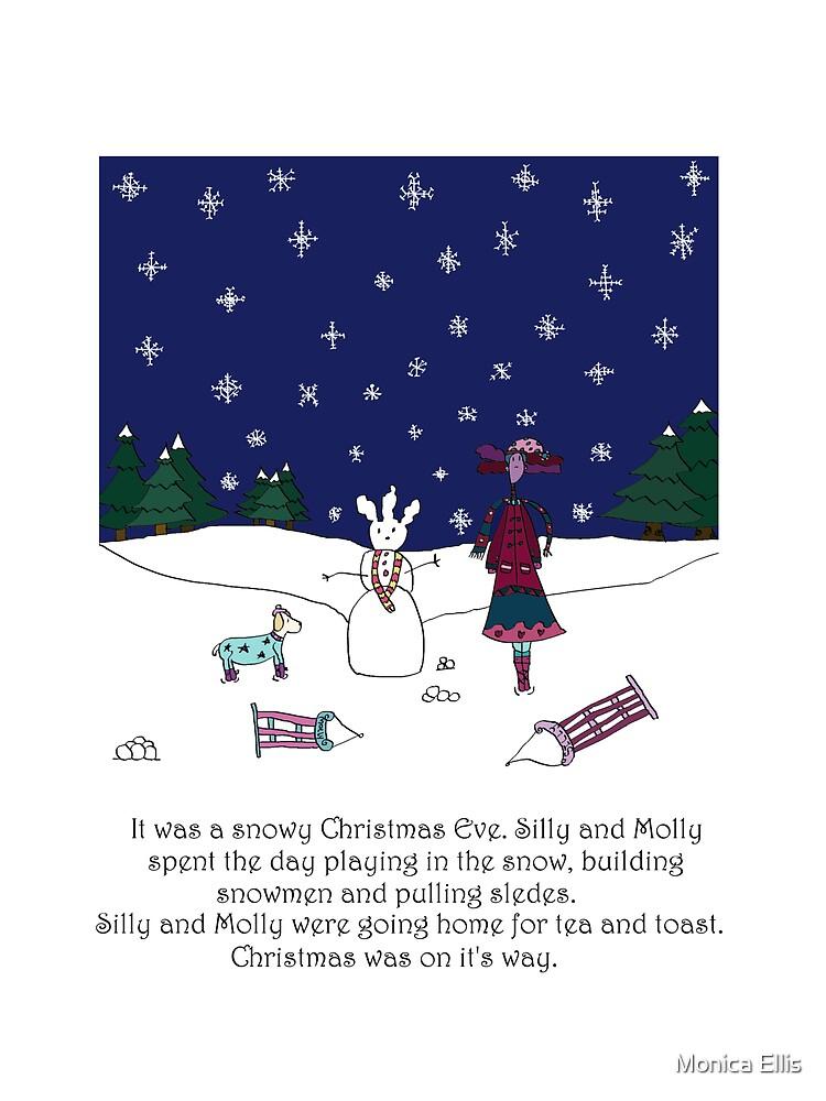 Snowy Christmas Eve by Monica Ellis