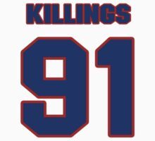 National football player Cedric Killings jersey 91 by imsport