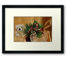Holiday Gold Framed Print