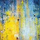 Yellow and white abstract wall by Silvia Ganora