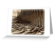 Like Waves in the Sands of Time  Greeting Card
